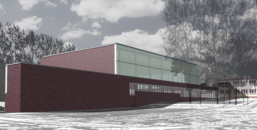 Jan Strumiłło architekt - hala sportowa w Bieruniu